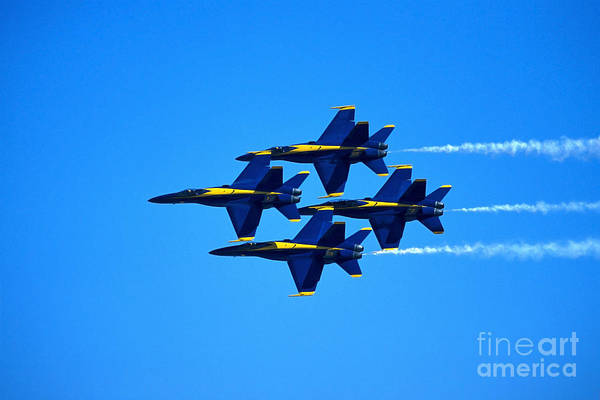 Photograph - Blue Angels Flying In Formation by Stocktrek Images