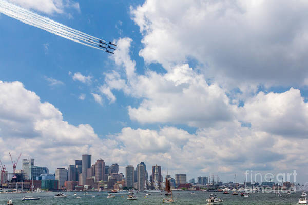 Photograph - Blue Angels Over Boston by Susan Cole Kelly