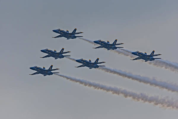 A-18 Hornet Wall Art - Photograph - Blue Angels by Susan Candelario