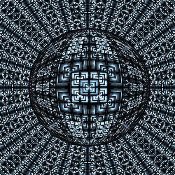 Digital Art - Blue Ball by Theodore Jones