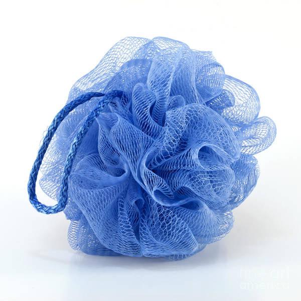Sponge Photograph - Blue Bath Puff by Blink Images