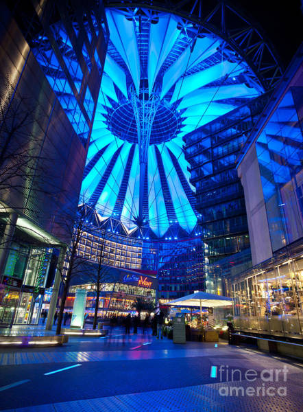 Sony Center Photograph - Blue Berlin by Mike Reid