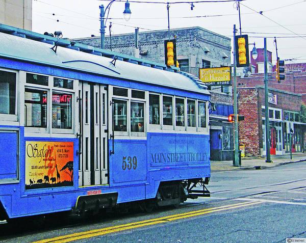 Digital Art - Blue Blue Trolley by Lizi Beard-Ward