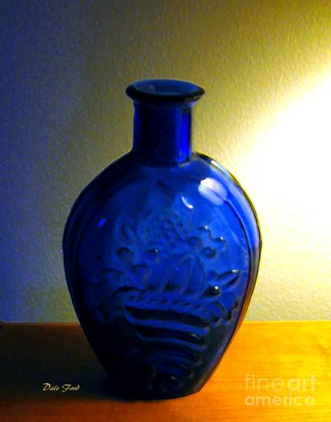 Digital Art - Blue Bottle by Dale   Ford