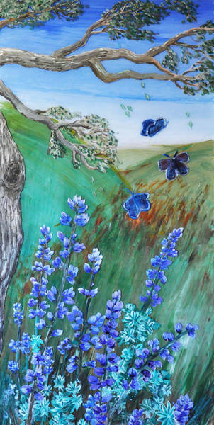 Painting - Blue Butterflies by Shelley Myers