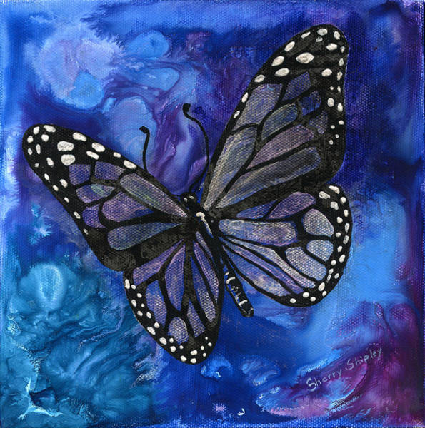 Painting - Blue Butterfly by Sherry Shipley