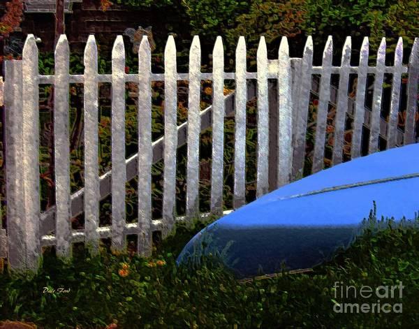 Digital Art - Blue Canoe by Dale   Ford