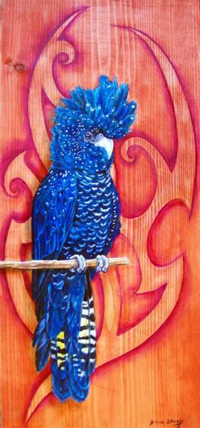 Wall Art - Painting - Blue Cockatoo by Diana Shively
