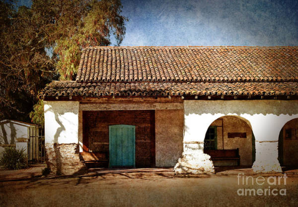 California Mission Photograph - Blue Door At San Juan Bautista by Laura Iverson