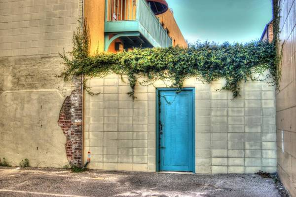 Digital Art - Blue Door by Michael Thomas