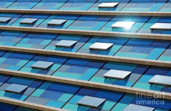 Edifice Photograph - Blue Facade by Carlos Caetano