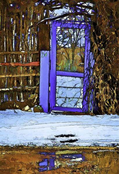 Digital Art - Blue Gate #24 by Charles Muhle