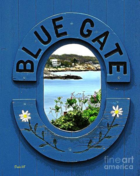 Digital Art - Blue Gate by Dale   Ford