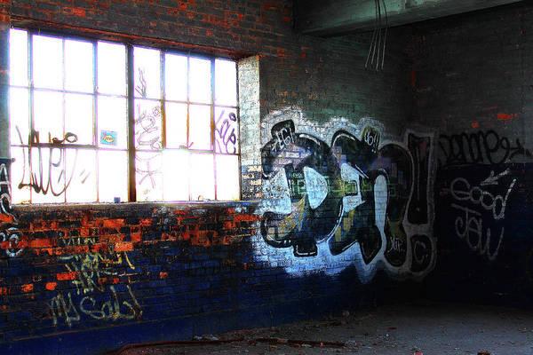 Photograph - Blue Graffiti by Scott Hovind
