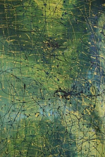 James Johnson Wall Art - Painting - Blue Green by James Johnson