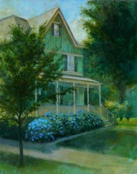 Neighborhood Painting - Blue Hydrangea by David Henderson
