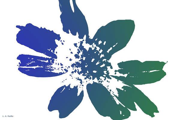Blue In Bloom Art Print