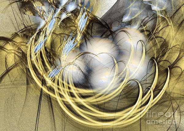 Digital Art - Blue Lullaby - Abstract Art by Sipo Liimatainen