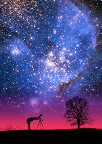Blue Magellanic Cloud Art Print