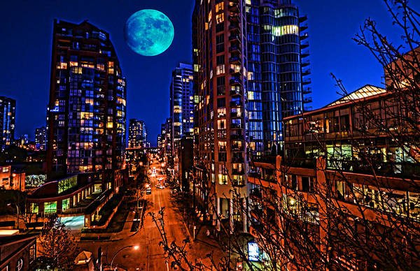 Photograph - Blue Moon 1 by Lawrence Christopher