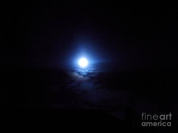 Photograph - Blue Moon by Jessie Art