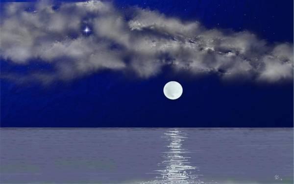 Digital Art - Blue Moon by Tony Rodriguez