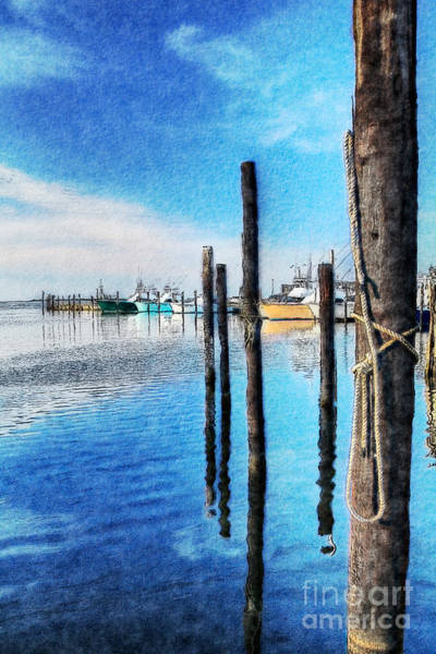 Bodie Painting - Blue Morning At Oregon Inlet II by Dan Carmichael