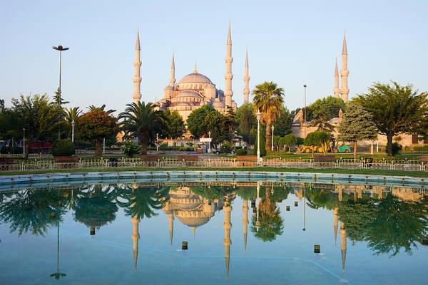 Sultan Ahmet Camii Wall Art - Photograph - Blue Mosque At Dawn by Artur Bogacki