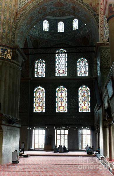 Photograph - Blue Mosque Prayers by Leslie Leda