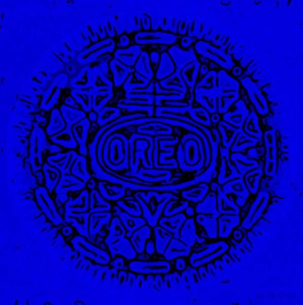 Nabisco Photograph - Blue Oreo by Rob Hans