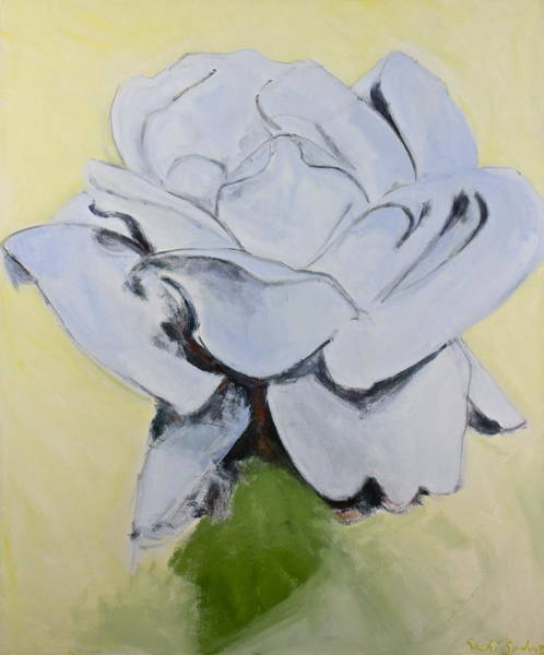 Painting - Blue Rose-3-posthumously Presented Paintings Of Sachi Spohn  by Cliff Spohn