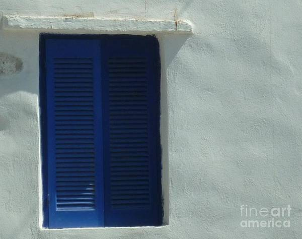 Wall Art - Photograph - Blue Shutters Of Greece by Therese Alcorn