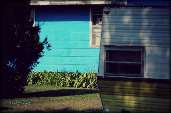 Photograph - Blue Siding And Camper by Paulette B Wright