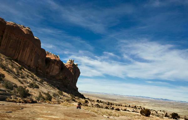 Desert Varnish Photograph - Blue Skies And Atv by Marilyn Hunt