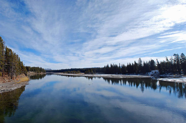 Wall Art - Photograph - Blue Sky Over Yellowstone River by Twenty Two North Photography