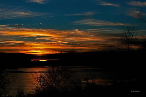 Photograph - Blue Sky Sunset by Edward Peterson