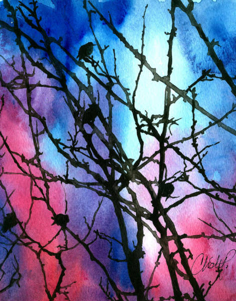 Painting - Blue Sky With Black Birds by Christy Freeman Stark