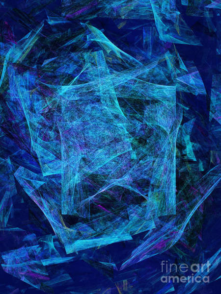 Debris Digital Art - Blue Space Debris by Andee Design