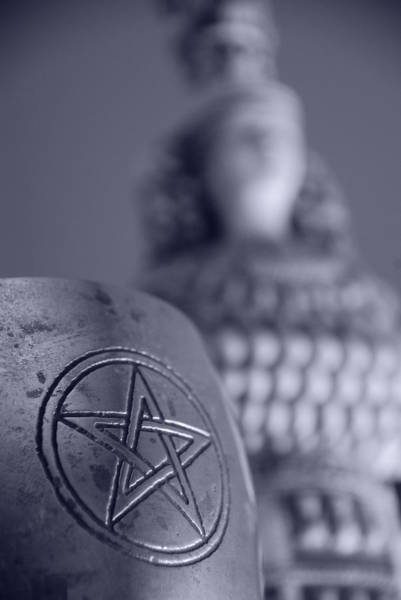 Wicca Photograph - Blue Star by JP Rhea