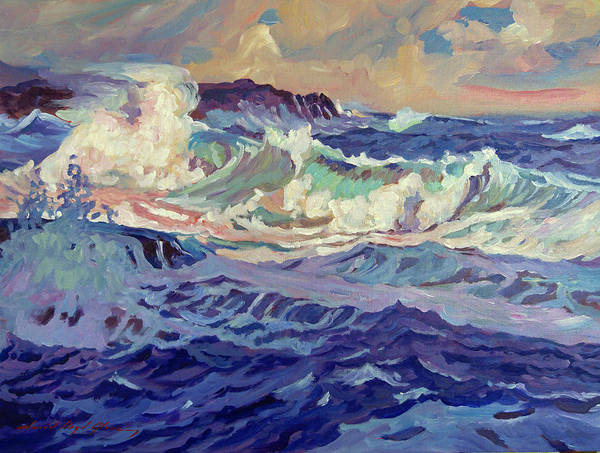 Painting - Blue Storm by David Lloyd Glover