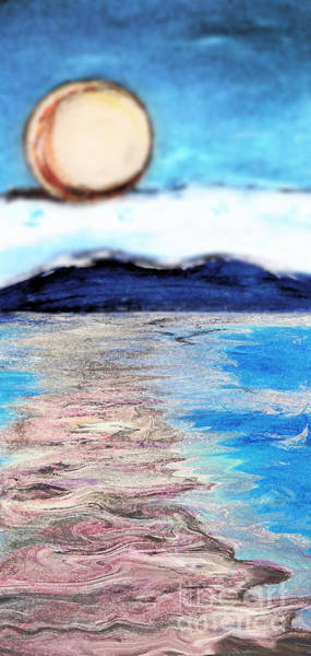 Painting - Blue Sunrise Rendered by Shelley Myers