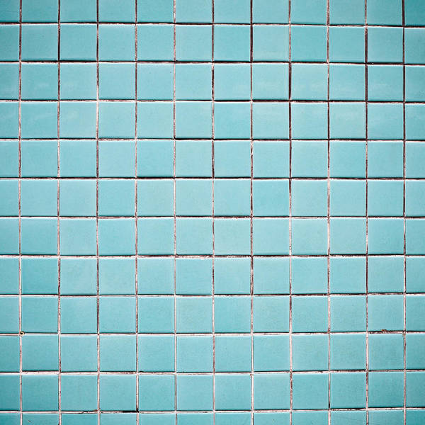 Filling Photograph - Blue Tiles by Tom Gowanlock