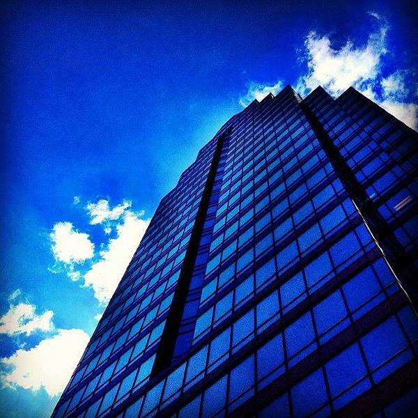 Blue Sky Photograph - Blue Tower by Christopher Campbell