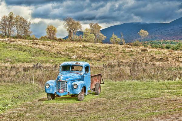 Blye Photograph - Blue Truck by Kenneth Blye
