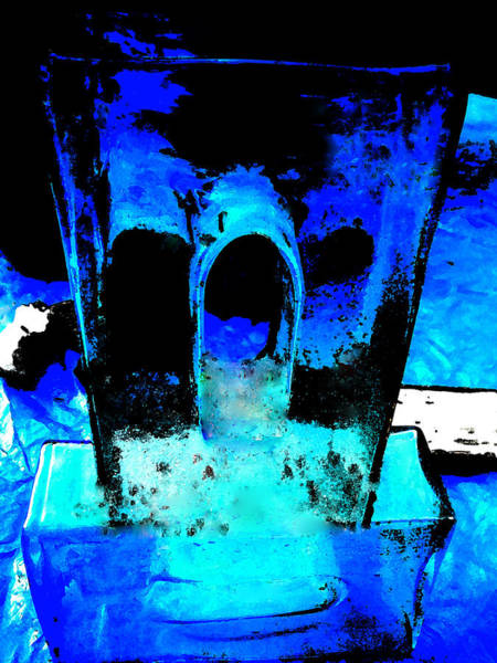 Painting - Blue Turquoise Harmony by Colette V Hera  Guggenheim