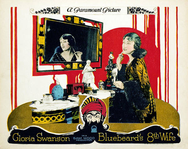 Gloria Swanson Photograph - Bluebeards Eighth Wife, Gloria Swanson by Everett