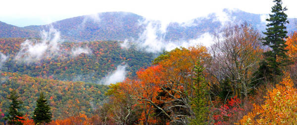 Photograph - Blueridge Mountains Near Hwy 215 In The Fall Filtered by Duane McCullough