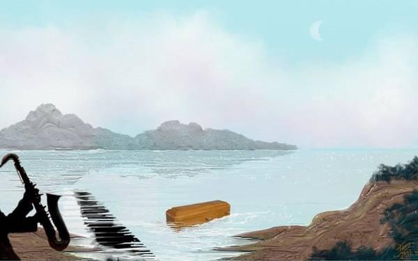 Digital Art - Blues Burial by Tony Rodriguez