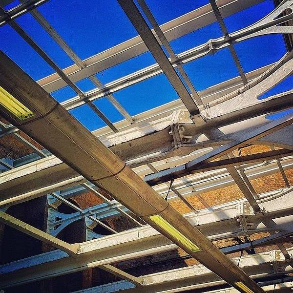 Steel Photograph - #bluesky #railway #station #trains by Samuel Gunnell