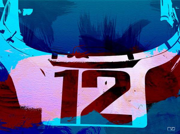 Event Digital Art - Bmw Racing Watercolor by Naxart Studio